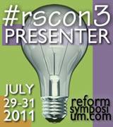 Small RSCON3 Presenter badge